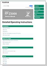 [video] FP-Z5000 프로젝터 작동 설명서