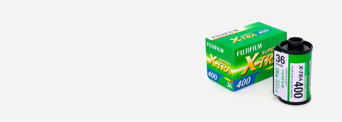 [photo] 후지필름 Superia X-Tra 400 필름과 포장 상자