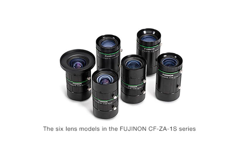 [Photo]The six lens models in the FUJINON CF-ZA-1S series