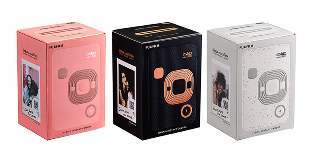 "[image]< Pentawards 2020 Gold Award winner > Packaging of the hybrid instant camera ""instax mini LiPlay"""