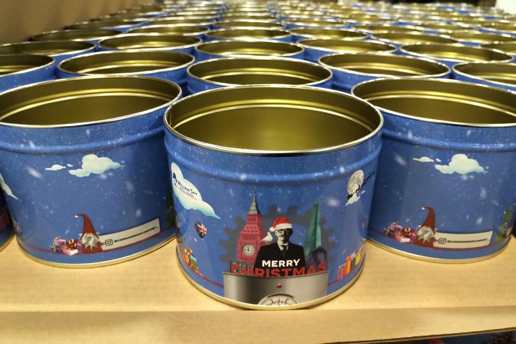 Printed tins by William Say & Co.