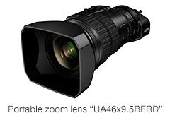 "[Photo]Portable zoom lens""UA46x9.5BERD"""