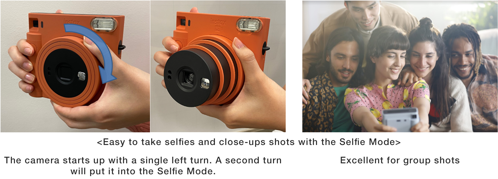 [image]Easy to take selfies and close-ups shots with the Selfie Mode