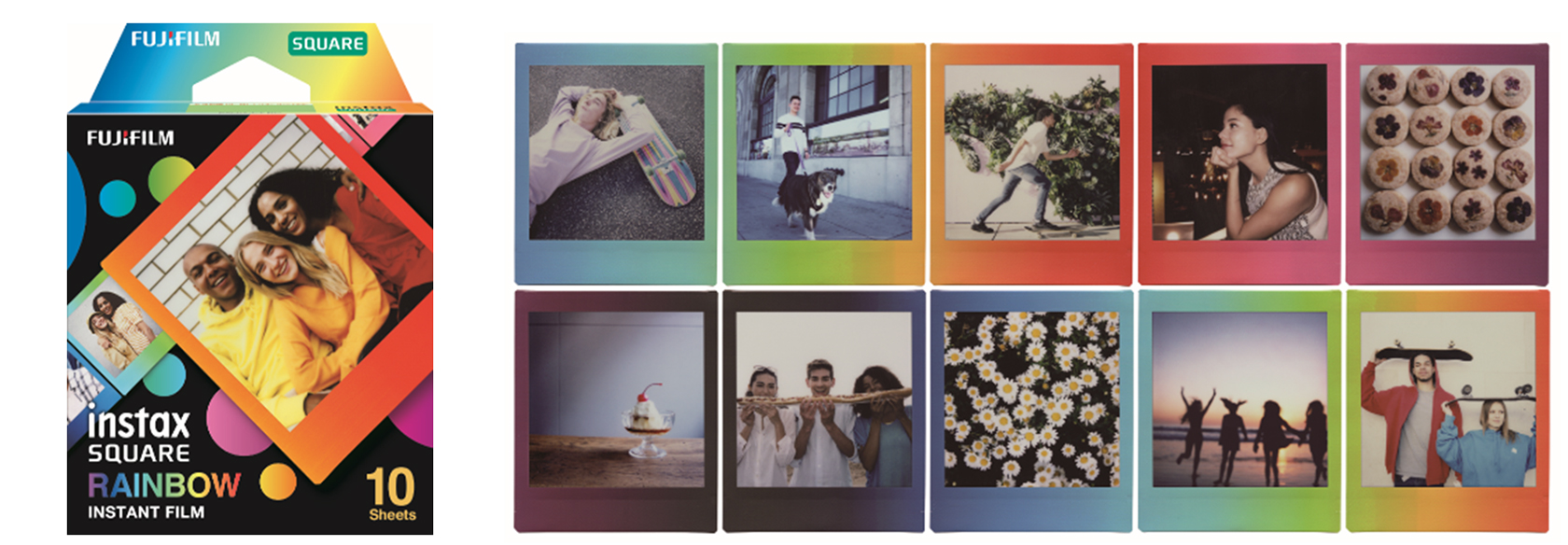 "[Image]Square format film ""RAINBOW"""