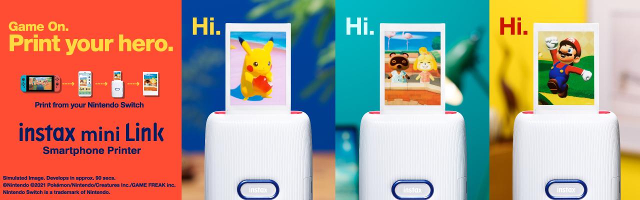 [photo] instax mini Link Nintendo Special Edition