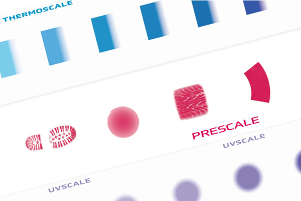 [image] Measurement Film Solutions with THERMOSCALE, PRESCALE and UV Scale samples