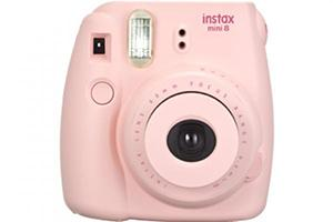 [photo] Instax Mini 8 in pink with a white background