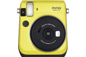 [photo] Instax Mini 70 in yellow with a white background