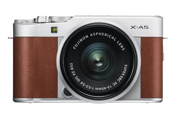 [photo] Fujifilm X-A5 System Digital Camera - Silver and brown leather