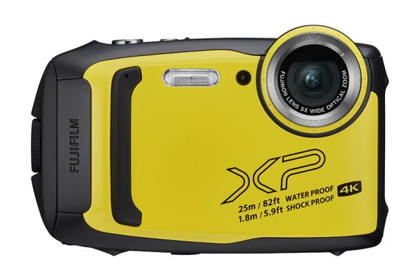 [photo] Fujifilm FinePix yellow digital camera