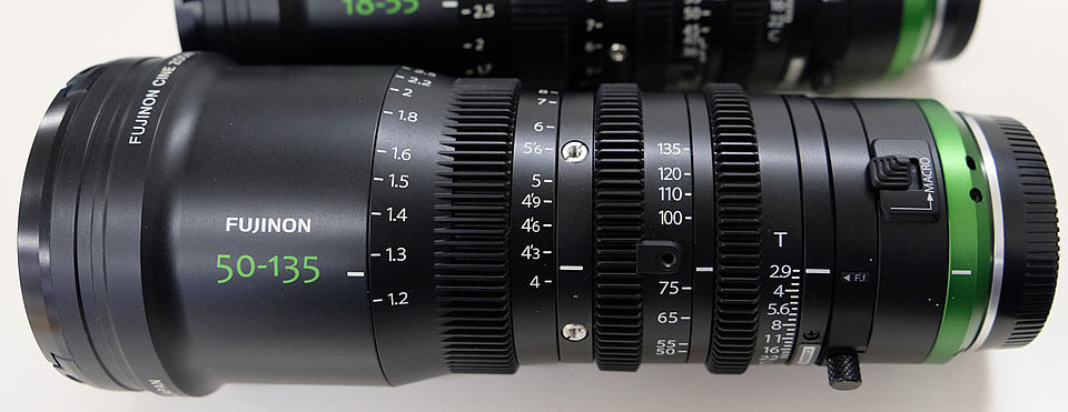 [photo] Fujinon 50-135mm lens with a close up on the scale and numbers