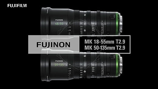 [photo] Fujinon MK 18-55mm and MK 50-135mm T2.9 lenses laid next to each other