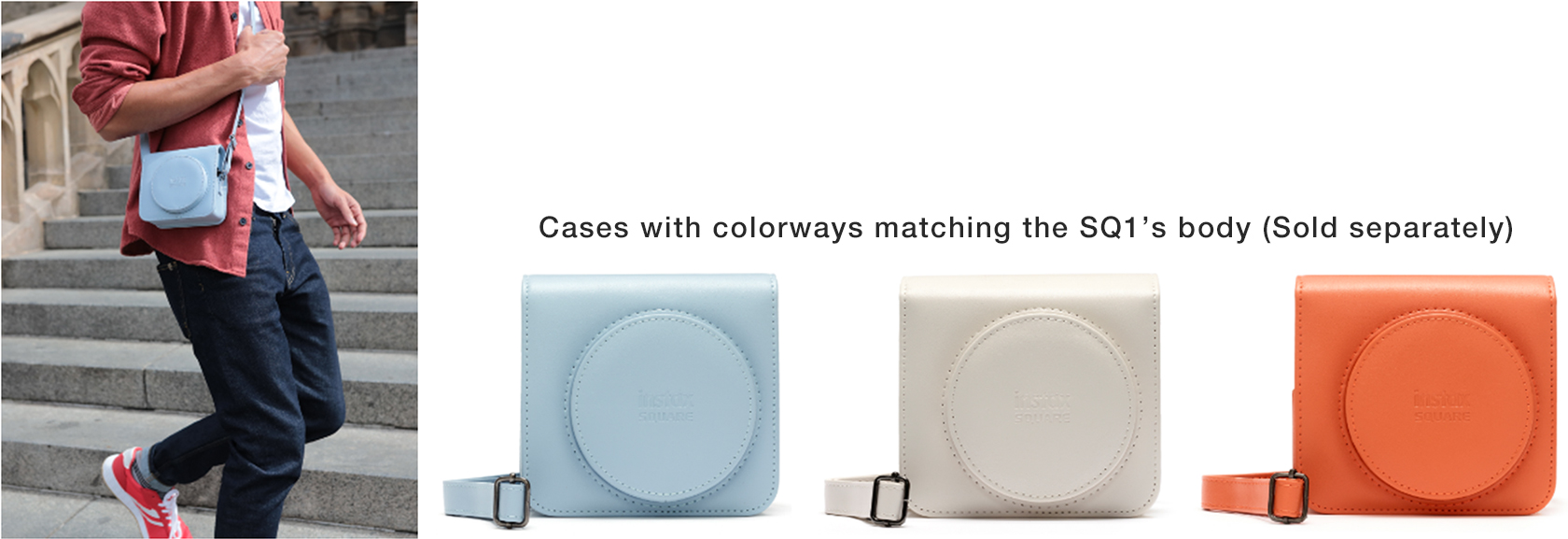 [Image]Cases with colorways matching the SQ1's body (Sold separately)