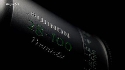 [photo] Up-close view of Fujinon 28-100 Premista lens logo etching