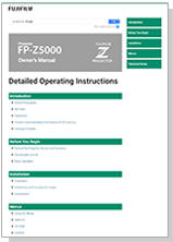 [video] Operation Manual for FP-Z5000 projector