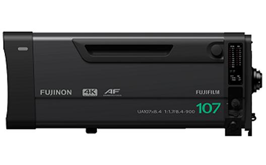 """4K-compatible broadcast zoom lens """"FUJINON UA107x8.4 BESM AF"""""""