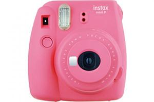 [photo] Instax Mini 9 and Instax Mini 9 Limited Edition in pink with a white background