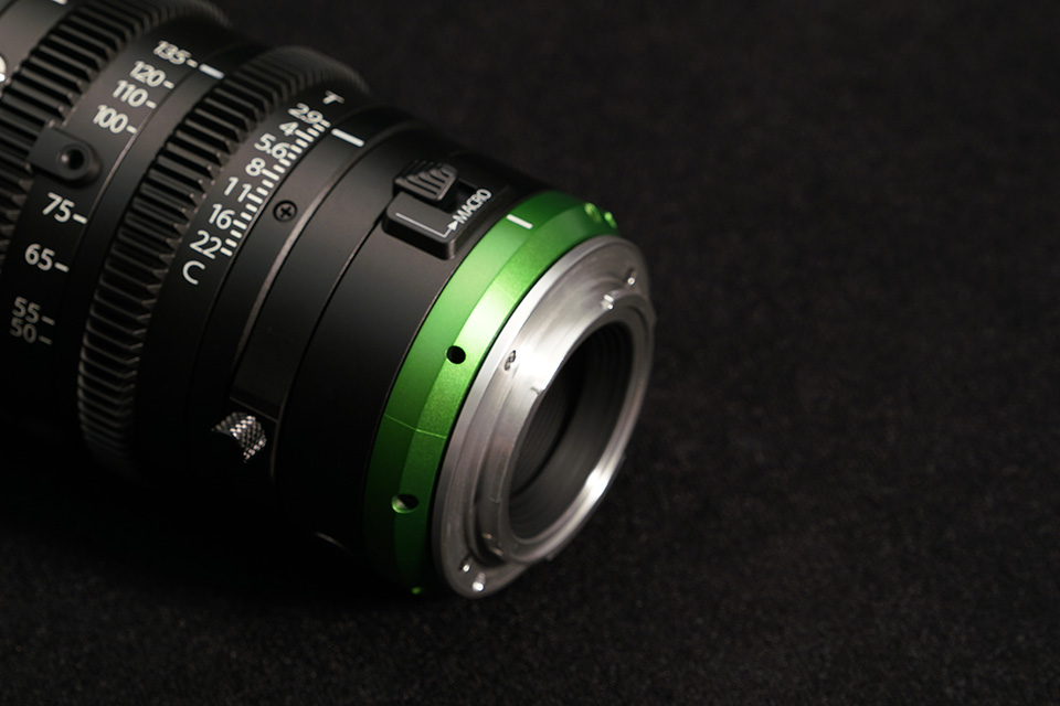 [photo] Close up of the back focus adjustment on the MK Lenses