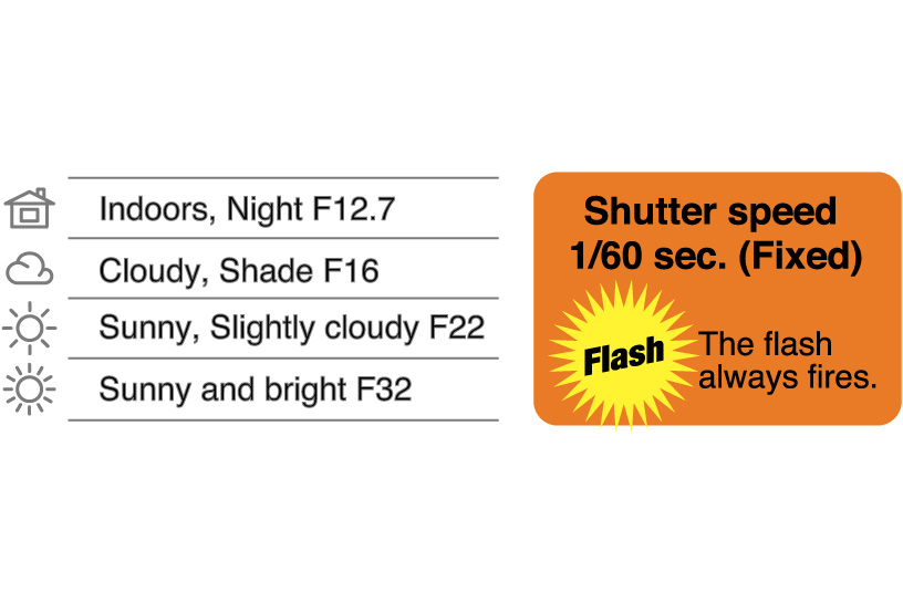 [image] Information on the Instax Mini 8 camera including hi-key mode specs and the shutter speed