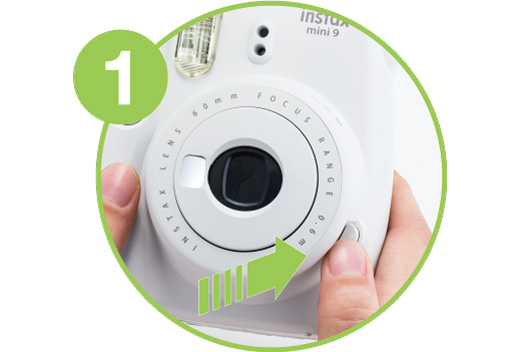 [photo] Close up of the Instax Mini 9's power button