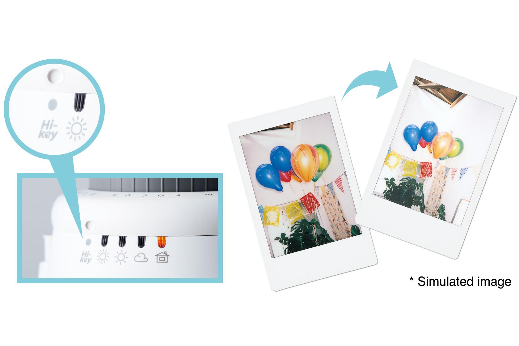 [photo] Highlight of the Instax Mini 8's Hi-Key adjustment dial and sample photos