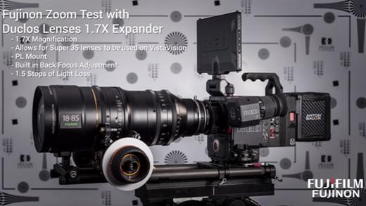 [photo] Fujinon HK/ZK lens mounted to camera and tripod
