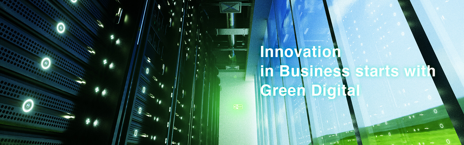 [Key Visual]Innovation in Business starts with Green Digital