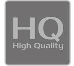[logo] Tekst HQ z napisem High Quality pod spodem