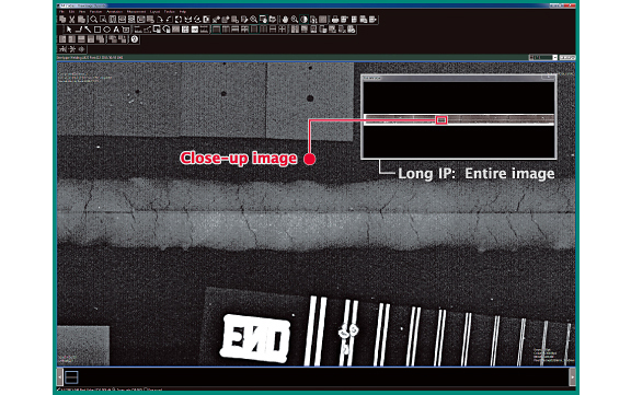 [[obraz] Zrzut ekranu oprogramowania — cały długi obraz IP i zbliżenie zaznaczone na czerwono