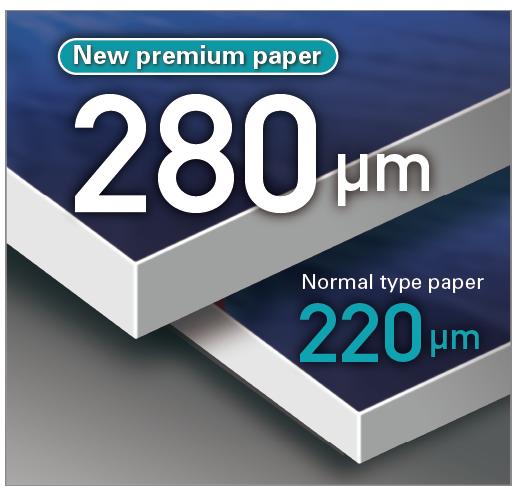 Novo papel premium 280 μm/ Um papel de tipo normal 220 μm