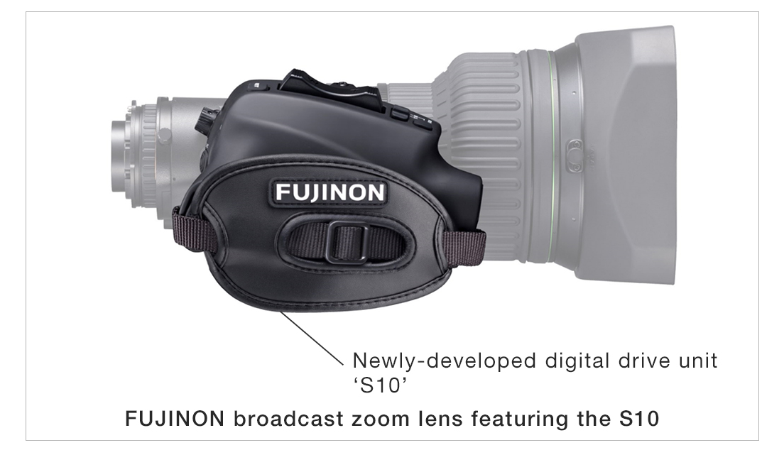 [Image]Newly-developed digital drive unit 'S10' / FUJINON broadcast zoom lens featuring the S10