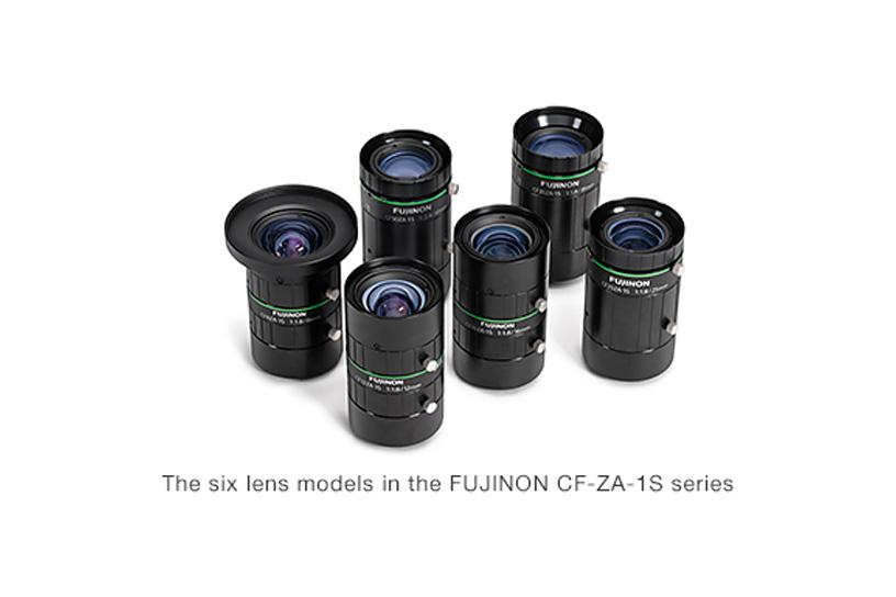 [Photo]The six lens models in the FUJINON CF-ZA-1S series