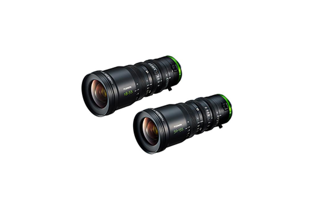 """[Photo]Cine lenses """"FUJINON MK18-55mm T2.9"""" and """"FUJINON MK50-135mm T2.9"""""""