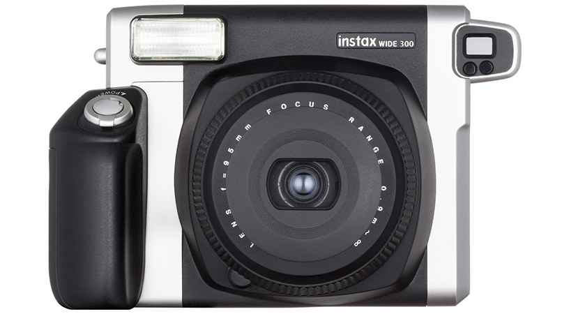 [photo] Front view of Instax WIDE 300 camera in Black