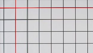 [photo] Square pattern designs highlighting the horizontal and vertical lines distortion using other single focus Cineles (F8)