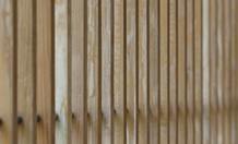 [photo] A close-up view of a wooden fence