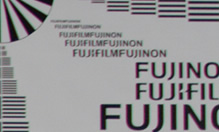 [photo] Zoomed in view of the lens test chart using the Fujinon 19-90mm/2.9 ZK Series lens