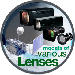 [image] Models of various lenses in front of background of moon landscape and satellite
