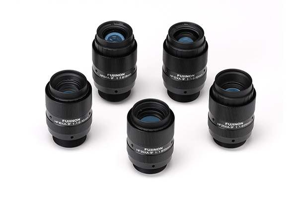 [photo] HF-XA-1F Series lenses standing upright and grouped together in a circle