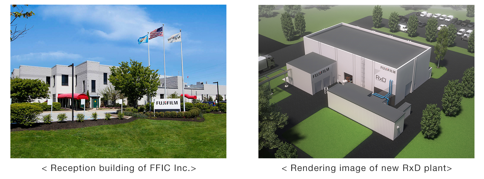 [Image] Reception building of FFIC Inc. / Rendering image of new RxD plant