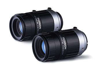 [photo] 2 Fujinon lenses side by side on a white background