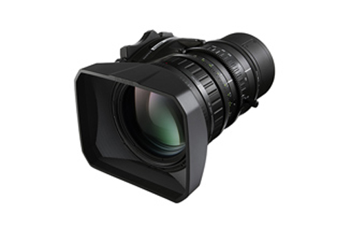 "[Photo]Portable zoom lens for broadcasting ""FUJINON LA16x8"""