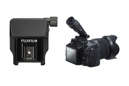 "[Photo]Electronic view finder tilt adaptor ""EVF-TL1"" for medium-format mirrorless digital camera ""FUJIFILM GFX 50S"""