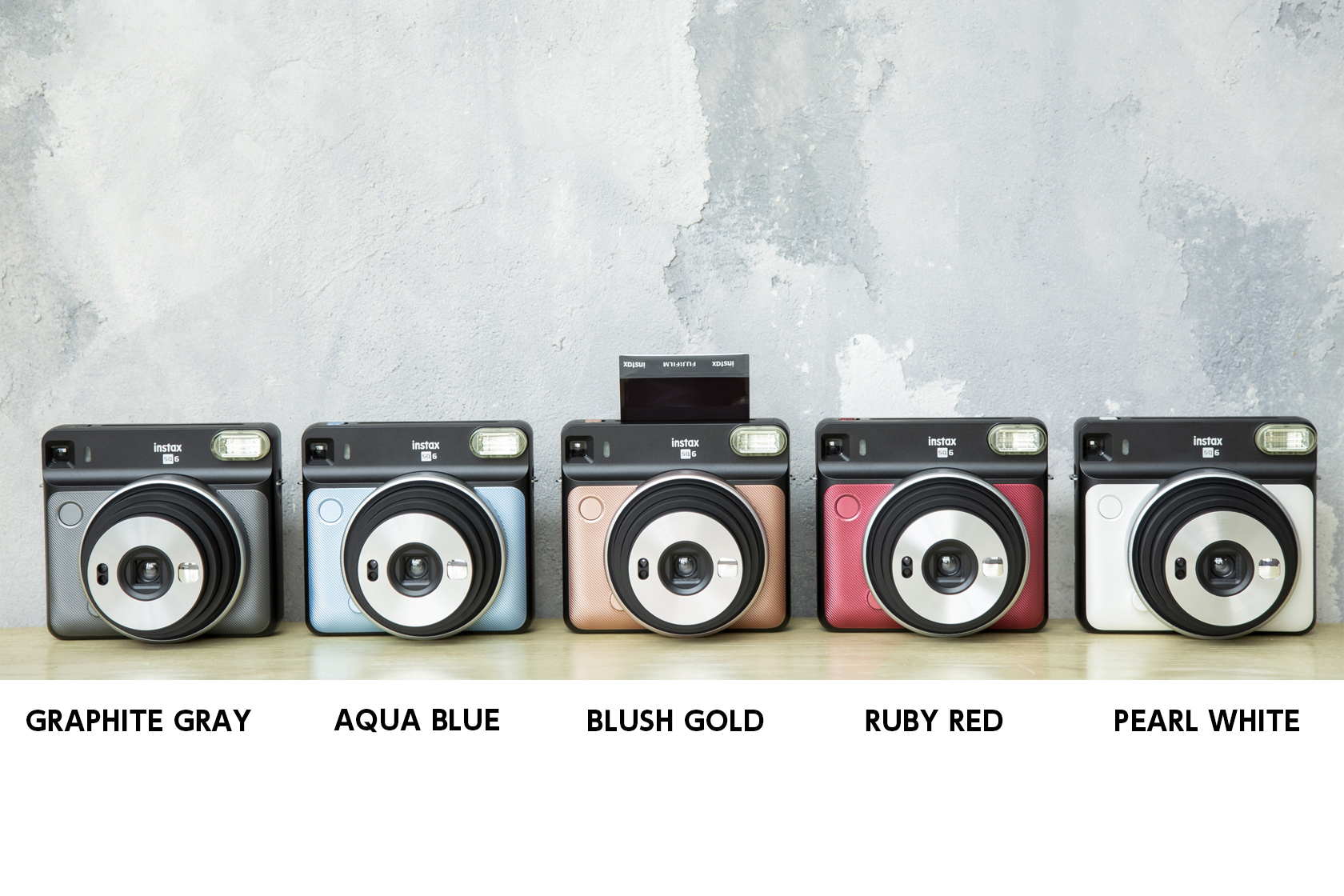 SQUARE SQ6 camera in all five colors