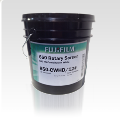 [photo] A paint bucket of the Fujifilm 650 Series ink