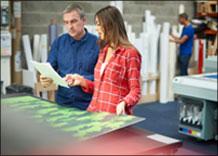 Technician Providing Field Service for Printers