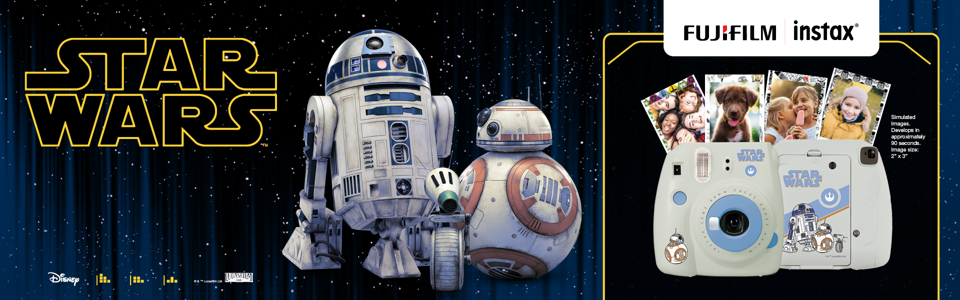 Image of Star Wars characters with mini 9 camera on the right