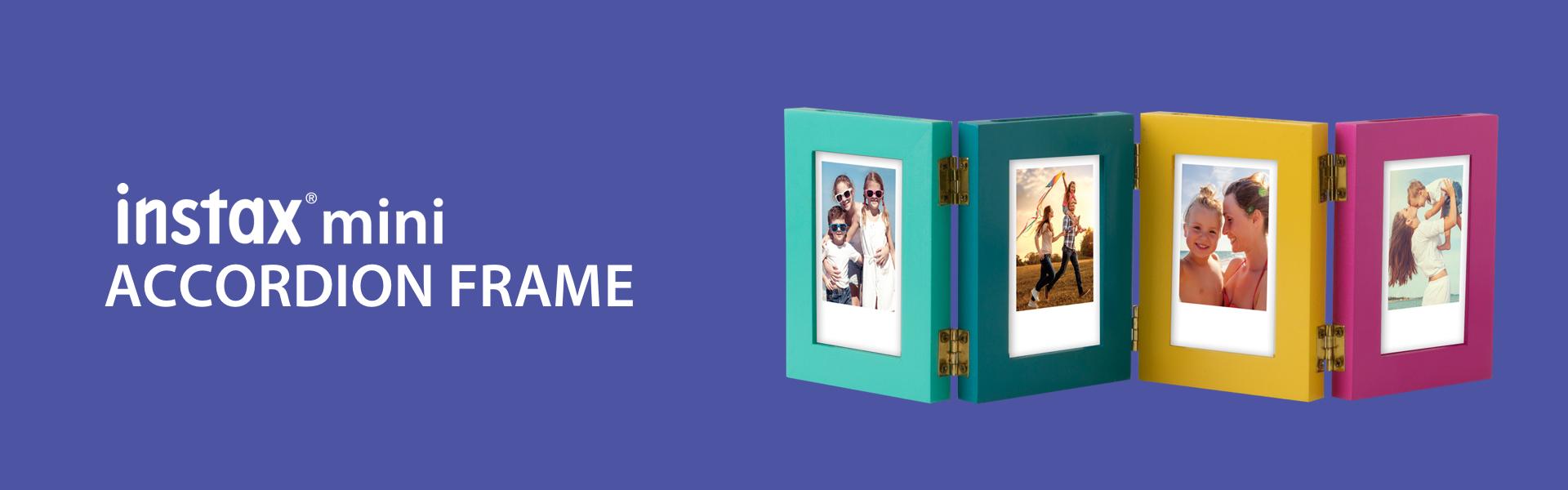 Blue Hero image with Accordion Mini Frame