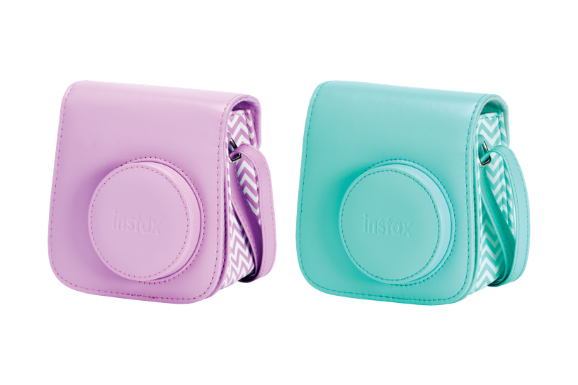 Pink and teal Mini 7S Camera Case