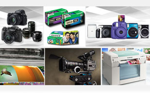 collage image of Fujifilm products